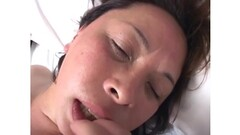 Horny asian mature slut opens hairy pussy to take fresh big cock Thumb